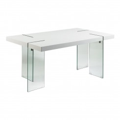 TABLE A MANGER DESIGN BLANCHE 160 CM CRISTAL TOWER