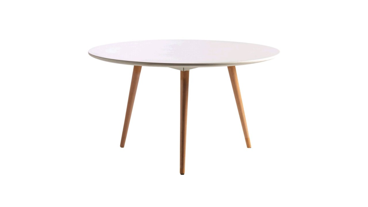 Table basse ronde blanche pas cher maison design for Table blanche