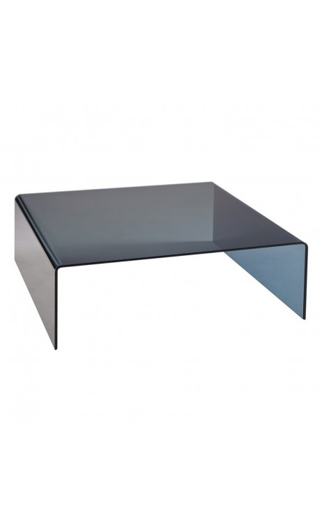 Table basse design plateau verre - Table basse verre noir ...