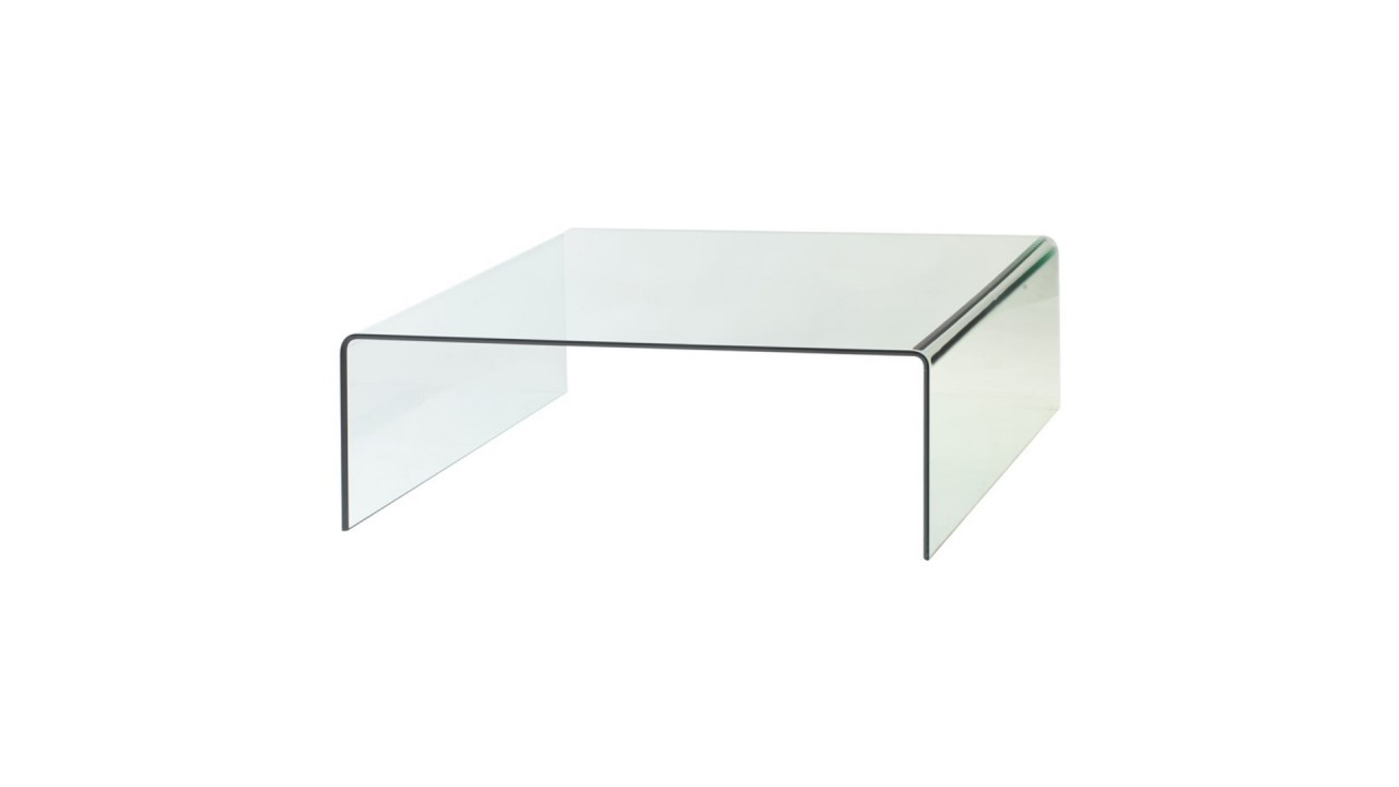 table basse en verre transparente carre 110 x 110 ebay. Black Bedroom Furniture Sets. Home Design Ideas
