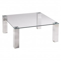 TABLE BASSE 90 X 90 CM VERRE ET CHROME TOWER CAMINO A CASA
