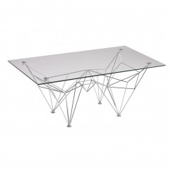 TABLE BASSE DESIGN VERRE ET ACIER CHROME DOGGY CAMINO A CASA