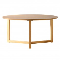 TABLE BASSE RONDE BOIS CLAIR 90 CM THREE CAMINO A CASA