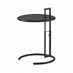 TABLE D'APPOINT DESIGN VERRE NOIR MONOCLE CAMINO A CASA