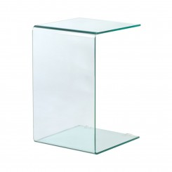 TABLE D'APPOINT DESIGN VERRE TRANSPARENTE CAMINO A CASA