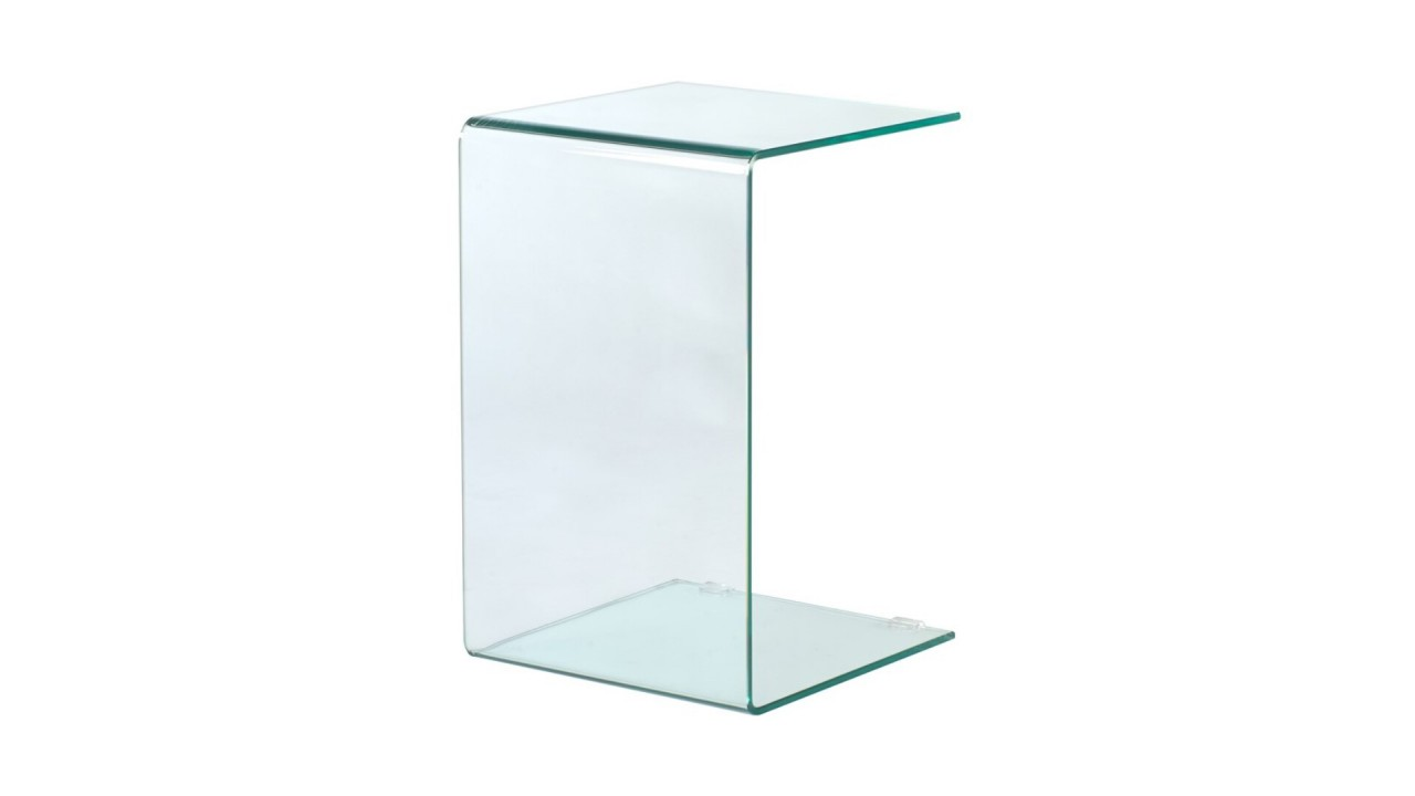 table d 39 appoint design verre transparente pas cher