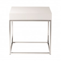 TABLE D'APPOINT PLATEAU BLANC LAQUE BLOCK CAMINO A CASA