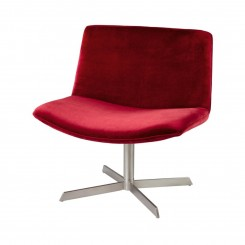 FAUTEUIL DESIGN TISSUS ROUGE VELOURS KISS CAMINO A CASA