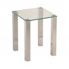 TABLE D'APPOINT 40 X 40 CM VERRE ET CHROME TOWER CAMINO A CASA
