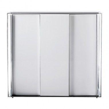 Buffet design laqué et chromé 4 portes Vanity