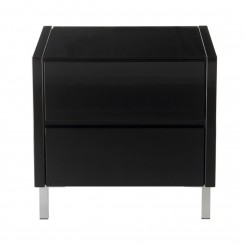 TABLE DE CHEVET DESIGN LAQUE NOIR BOSTON CAMINO A CASA