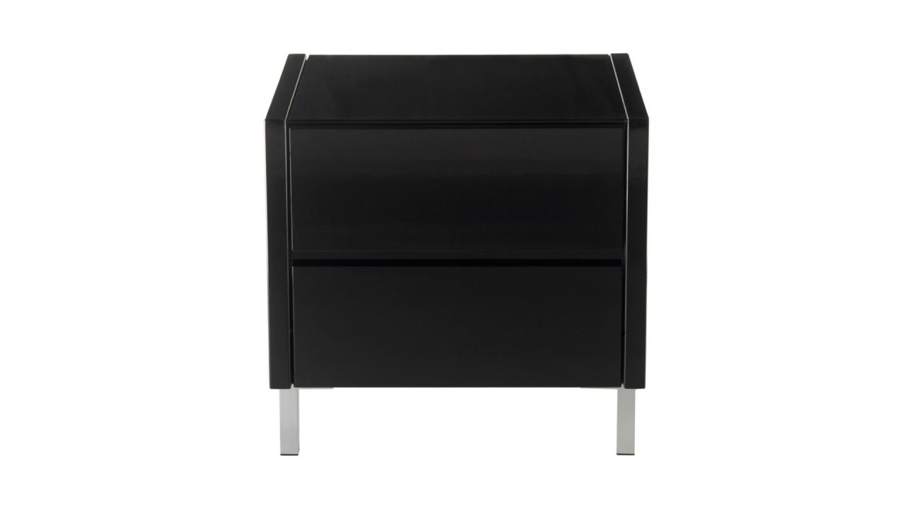 Table de chevet noir conceptions de maison - Table de chevet design ...