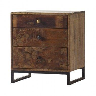 table de chevet loft attitude. Black Bedroom Furniture Sets. Home Design Ideas