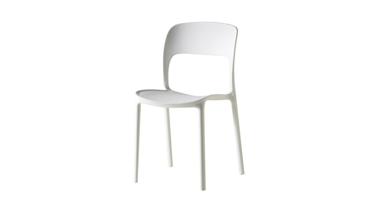 Chaise moderne blanche maison design for Chaise blanche design pas cher