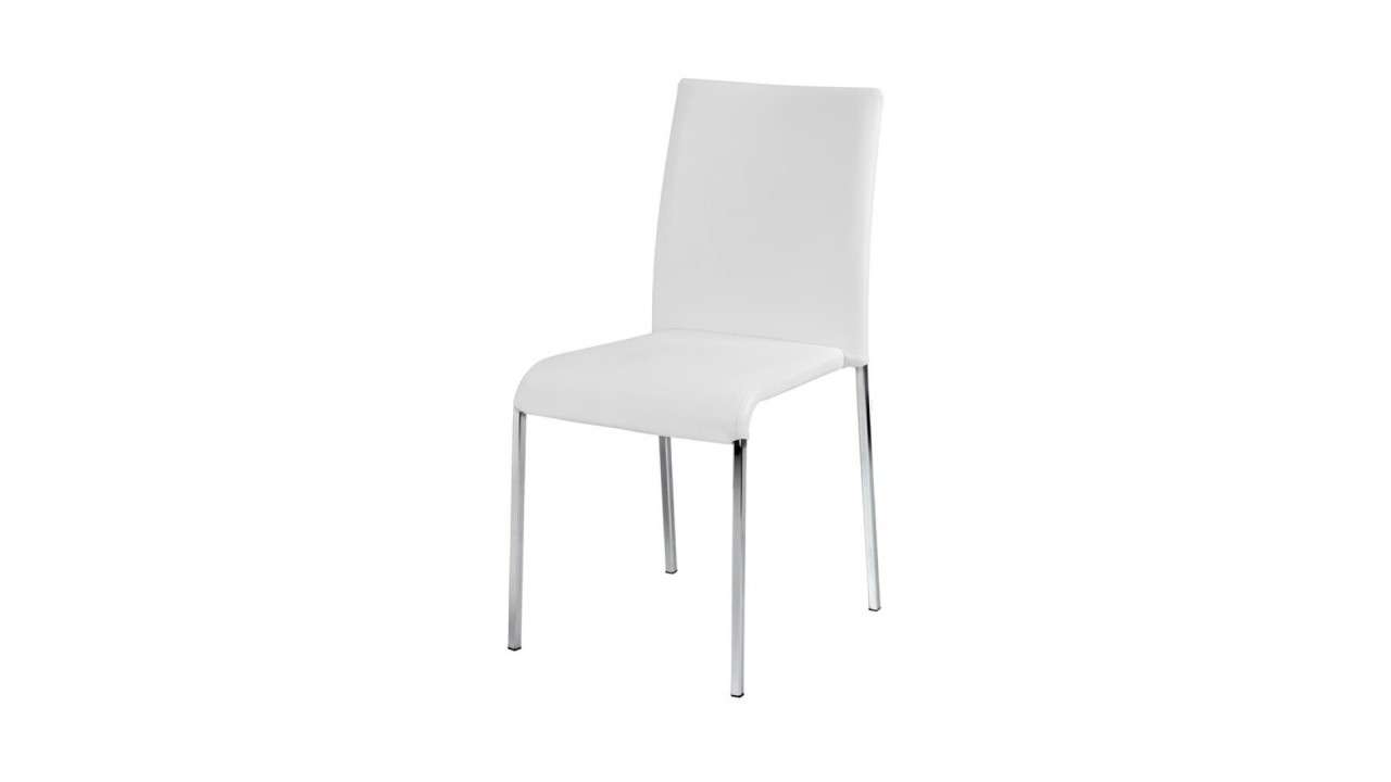 Chaise design blanche chaise blanche design fany chaise for Chaise design blanche