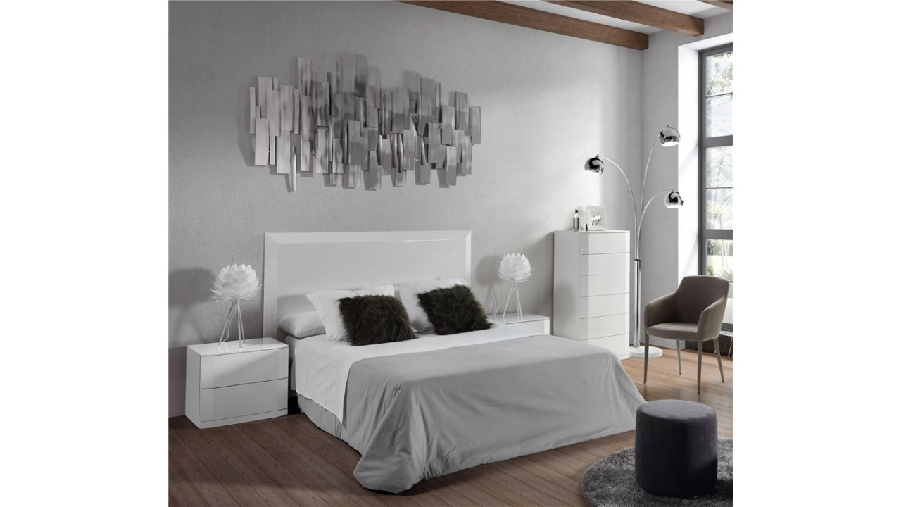 achetez votre t te de lit design laqu blanc 180 cm manhattanpas cher sur loft. Black Bedroom Furniture Sets. Home Design Ideas