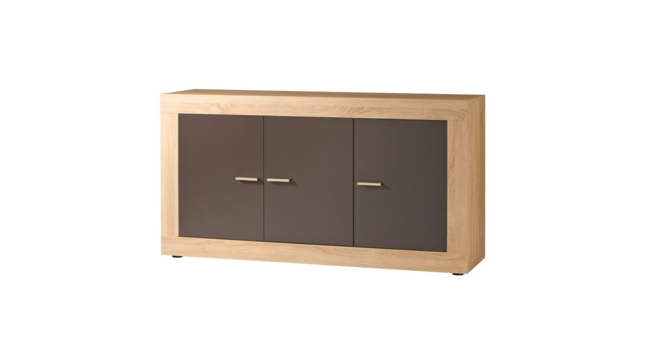 achetez votre buffet 3 portes en bois marron rustica pas cher sur loft. Black Bedroom Furniture Sets. Home Design Ideas