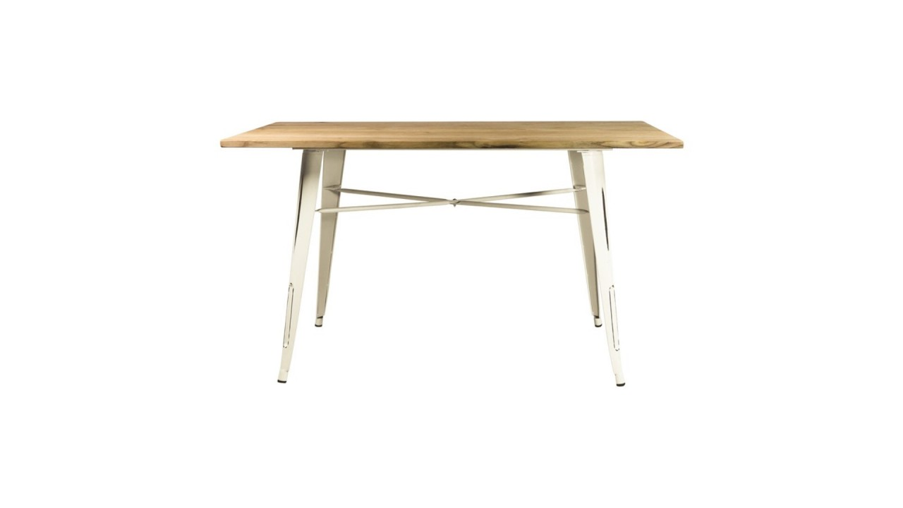 Table industrielle bois et fer for Table a manger industrielle pas cher