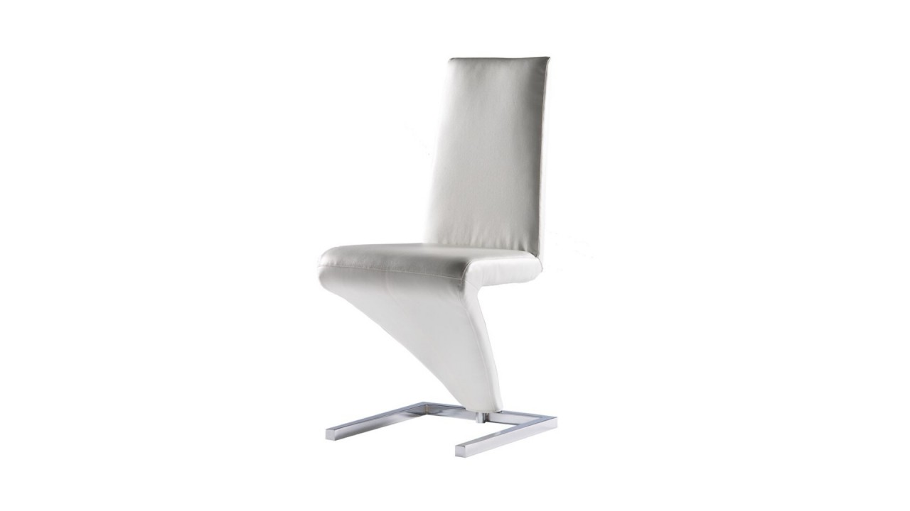 Chaises simili cuir blanc chaise simili cuir blanc for Chaise cuir blanc