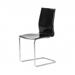 CHAISE DESIGN NOIRE ET CHROME ALLEGRO CAMINO A CASA