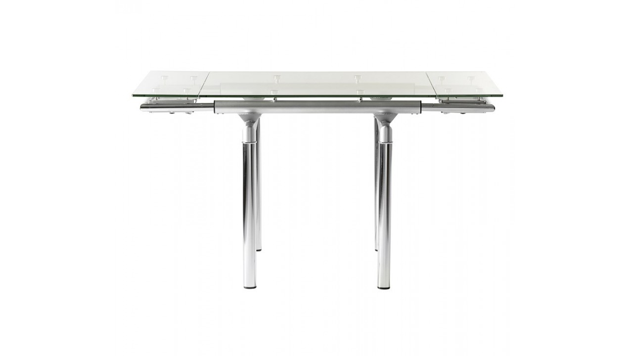 Table a manger verre maison design for Fly table salle manger verre