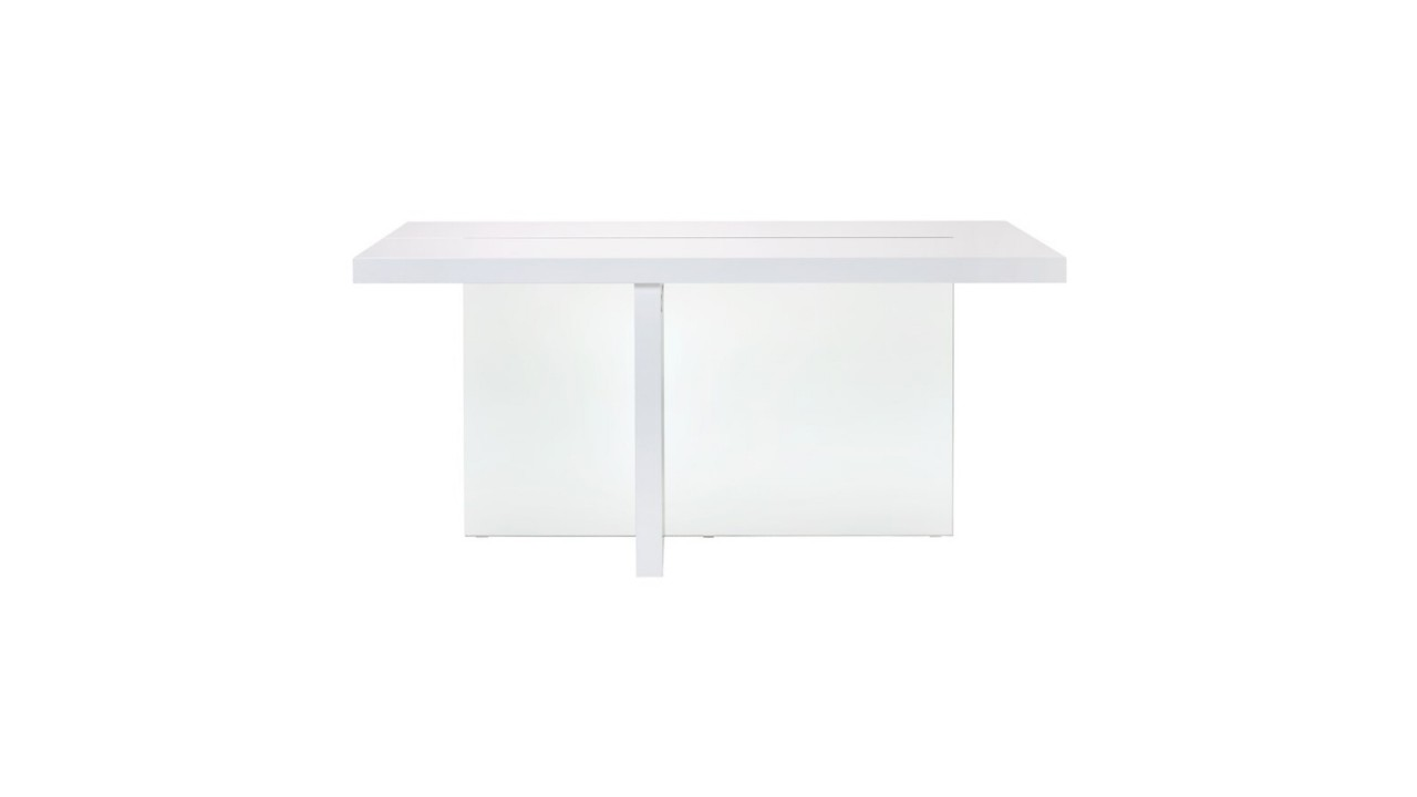 Achetez votre table manger rectangle blanche et verre for Table a manger blanche