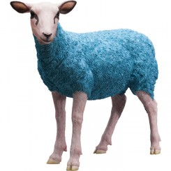 MOUTON GRANDE STATUE DECORATIVE BLEU SHEEP KARE DESIGN