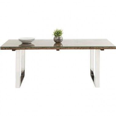 TABLE A MANGER EN BOIS ET ACIER 200 CM RUSTICO KARE DESIGN