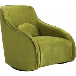 FAUTEUIL CLUB ROCKING CHAIR TISSUS VERT SWING RITMO KARE DESIGN