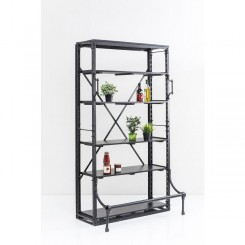 ETAGERE INDUSTRIELLE EN FER NOIR SINGLE KARE DESIGN