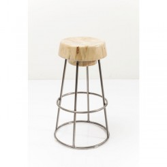 TABOURET DE BAR ASSISE BOIS ET ACIER PARTY TIME KARE DESIGN