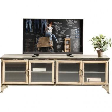 MEUBLE TV EN BOIS ET FER 4 PORTES KONTOR KARE DESIGN