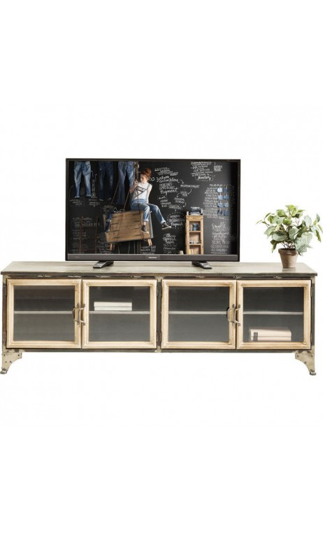 meuble fer bois free bois vintage ou pingles fer forg retro customiser un meuble tv ikea avec. Black Bedroom Furniture Sets. Home Design Ideas