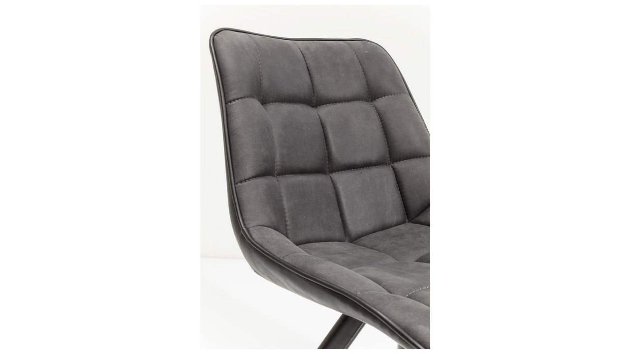 Chaise design cuir noir maison design for Chaise longue design cuir