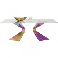 TABLE A MANGER DESIGN VERRE GLORIA RAINBOW KARE DESIGN
