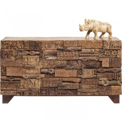 BUFFET 2 PORTES PATCHWORK DE BOIS SURPRISE NATURE KARE DESIGN