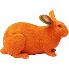 TIRELIRE LAPIN ORANGE ET OR RABBIT KARE DESIGN