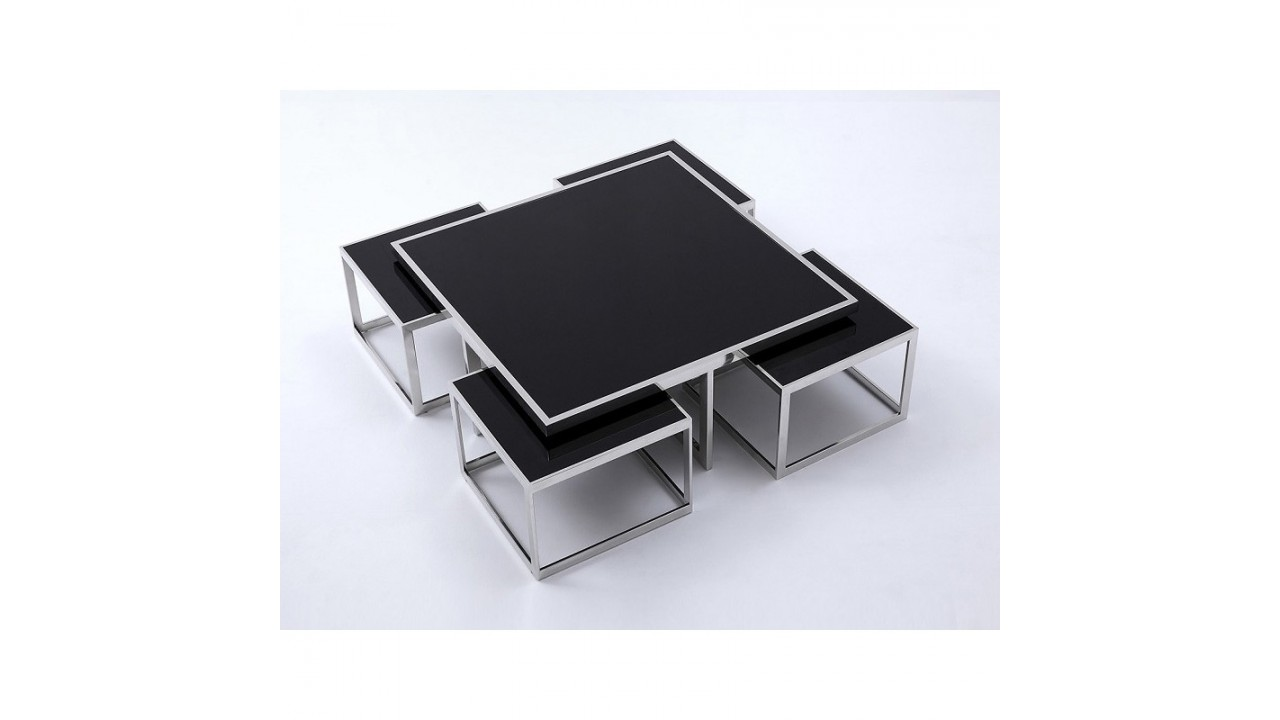 Achetez votre table basse design noir 4 tables d for Table basse design noir