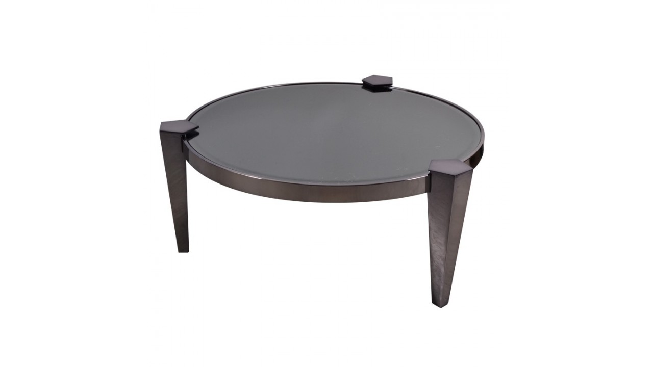 Table plateau verre conceptions de maison - Table basse verre noir ...