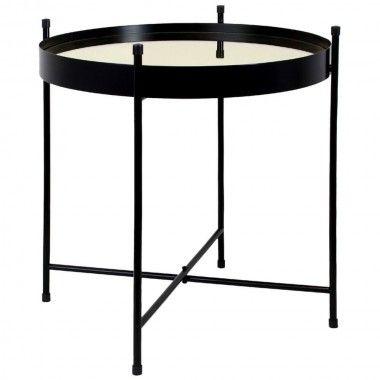 Table basse design plateau cuivre MIROIR