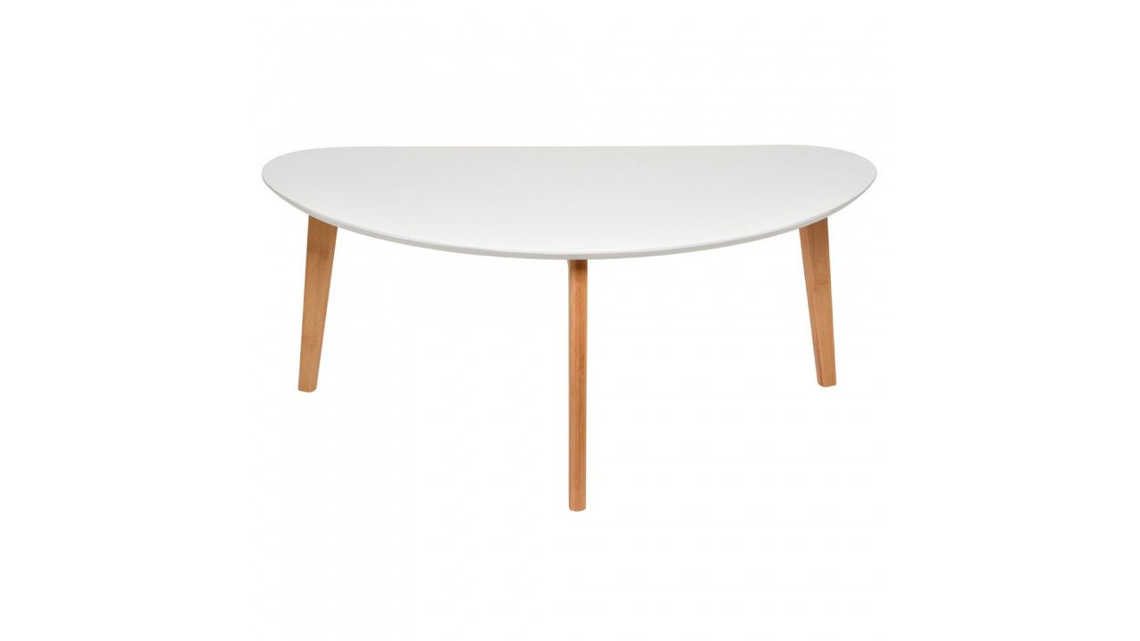 Table blanche et bois maison design for Table ovale extensible pas cher