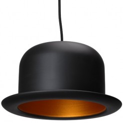 SUSPENSION DESIGN CHAPEAU MELON NOIR