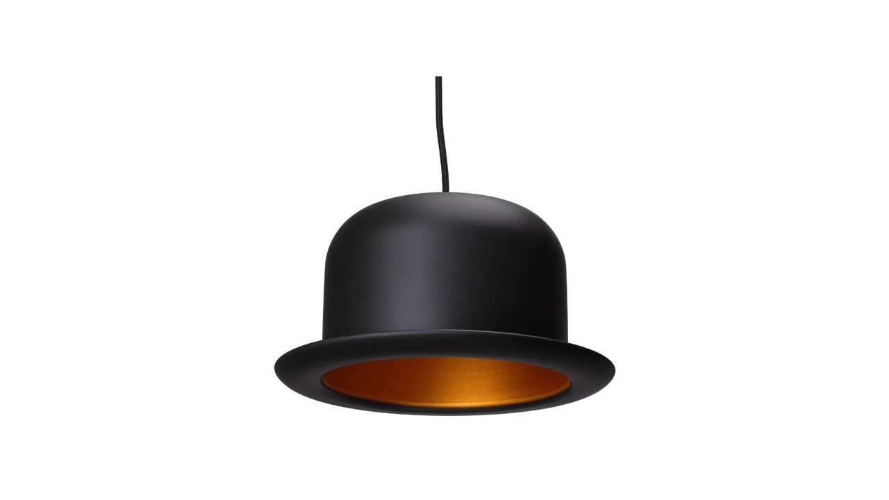 Achetez votre suspension design chapeau melon noir pas for Suspension design noir