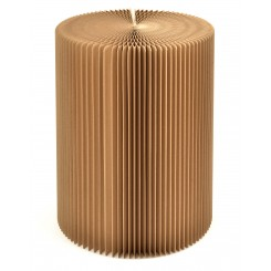 TABOURET ACCORDEON PLIABLE CARTON KRAFT