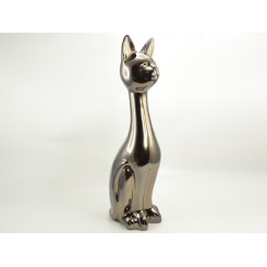 Statuette chat couleur or 70 cm ACHILLE