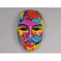 MASQUE VISAGE 58 CM POP MULTICOLORE ILLUSION