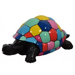 TORTUE GEANTE NOIRE ET MULTICOLORE SMARTIES DREAM LOFT