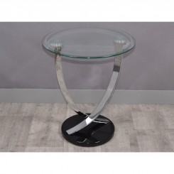 TABLE D'APPOINT PLATEAU VERRE TREND