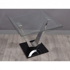 TABLE D'APPOINT BOUT DE CANAPE CHROME VARIANCE