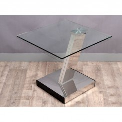 TABLE D'APPOINT DESIGN PIED CHROME EVOLUTION